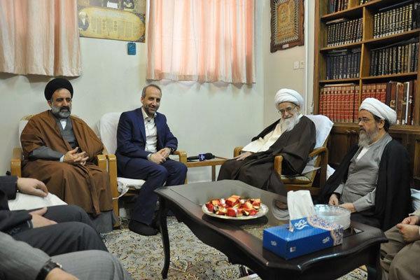 دیدار محمد سرافراز رییس رسانه ملی با مراجع تقلید و علما