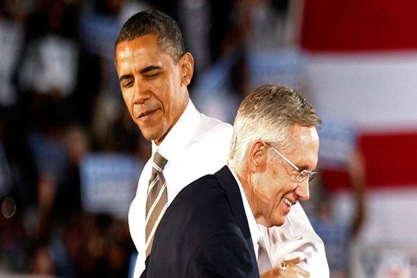 باراک اوباما و هری رید